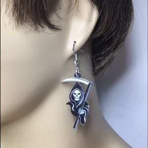 Jewelry - Reaper Acrylic Earrings